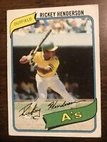 1980 Topps #482 Rickey Henderson Rookie Oakland A's HOF No Creases