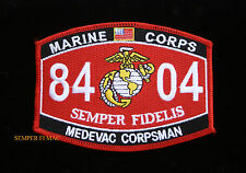 MOS 8404 MEDEVAC CORPSMAN PATCH US NAVY MARINES PIN UP COIN DOC WOW MCAS DOC WOW