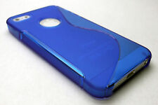Blue Soft Rubber Gel Case Cover Skin for Apple iPhone 5 Shell iPhone5 i phone 5s