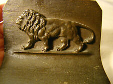 Pair of Signed Bradley & Hubbard Lion Bookends
