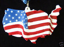 American Flag Mardi Gras Bead Necklace Usa Country Patriot Politics Election A10