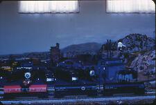 1960 Model Train Layout - Tankers & Locomotives - Orig 35mm Model Railroad Slide