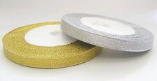22 Mtrs Metallic Organza Ribbon - 10mm - Choose Colour