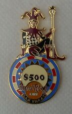 Hard Rock Cafe Las Vegas Jester on $500 Chip Logo Pin, New Condition