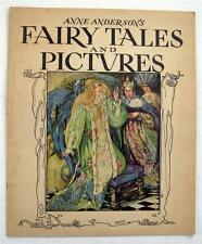 Anne Anderson's Fairy Tales and Pictures Whitman 1935 Large Softcover Art Deco