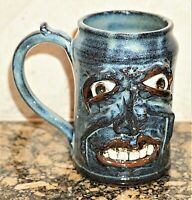 Ugly Funny Face Toothy Mug Folk Art Jug Art Studio Pottery Sculpture Kate Krause
