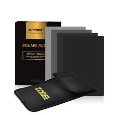 ZOMEI 100*150mm Full Neutral Density Square Filter ND2+4+8+16 Cokin Z UK Seller