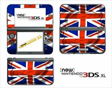 HAUT STICKER AUFKLEBER - NINTENDO NEU 3DS XL - REF 120 UNION JACK