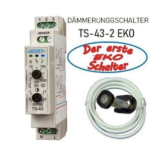 Dämmerungsschalter MART TS-43-2 - EKO Schalter - Abschaltautomatik Nachtmitte