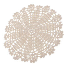 Handmade Round Crochet Cotton Lace Table Placemat Doily for Home Decoration