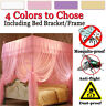 4 Corner Post Bed Canopy Mosquito Net Full Queen King Size Netting Bracket Frame
