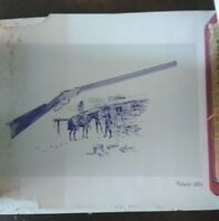 4 Prints by Cecil Cooke – The Winchester 1866 – Volcanic 1854 – Winchester 1873