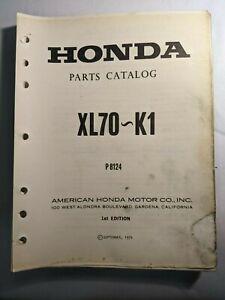1974  HONDA  XL70 / XL 70 ~ K1  / OFFICIAL  MOTORCYCLE PARTS MANUAL
