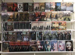 The Walking Dead Image 55 Lot Comic Book Comics Set Run Collection Box