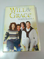 WILL & GRACE Temporada 4 Completa 3 X DVD Español Ingles Region 2