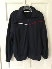 Tommy Hilfiger Woman Dark Blue Cotton Athletic Jacket Zip Front Long Sleeve 1X