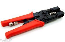 Rot Kompressionszange für F-Stecker/BNC/CINCH 5/7,5/7,0/8,2 mm Zange Crimpzange