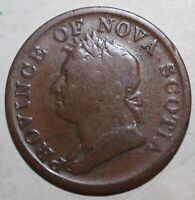 Province of Nova Scotia Halfpenny Token 1832 Canada George IV 1/2 ½ Half Penny