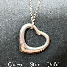 Sterling Silver open heart pendant on 925 chain necklace