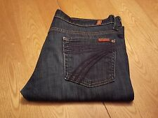 WOMENS SEVEN 7 FOR ALL MANKIND CROP DOJO JEANS 30 (31) WAIST VERY NICE!