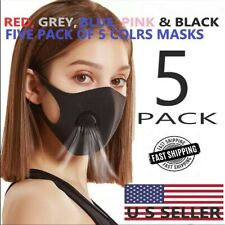 MULTI COLOR PACK OF FACE MASKS WITH FILTERED COOL AIR VENTILATOR