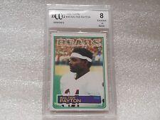 Walter Payton GRADED CARD!! Beckett BCCG 8!! 1983 Topps #36 Bears HOFer -5872