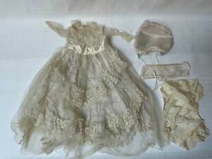 Vintage Lot of Large Doll Clothing Dress Cap Underwear Pants Approx. 15 In. Tall