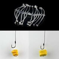 4*24Pcs Soft Stopper Hard Bait Holder Carp Hook Rigging Fishing Tackles