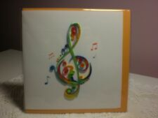 Quilling Cards LLC - 3D Treble Clef Note Card