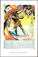 POSTCARD -VII GIOCHI OLIMPICI OLIMPIADI OLYMPIC GAMES ANVERS ANVERSA BELGIO 1920