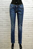 Jeans Donna Dondup Taglia 40 Pants Pantalone Slim Fit Woman Blu Blue Jeans
