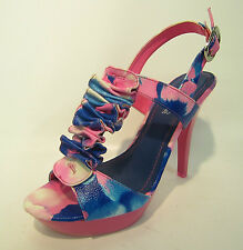 Ladies High Heel Strappy Cut Out Design Sandals F10414 2 Colours!