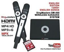 English Karaoke Machine Player SingMasters 13K English Songs,2 Wireless Mics
