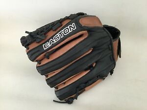 """Easton Glove 12.5"""" TSX 125 Black Brown Leather Right Pattern USA"""