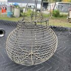 Antique Primitive Country original Early Wire Chicken Egg Basket Carrier