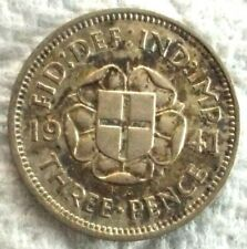 1941 Great Britain 3 Pence KM# 848 .500 Silver Coin