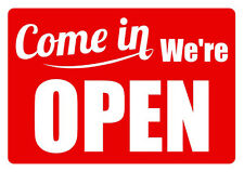 A4 SIZE 'COME IN' OPEN & CLOSED SIGN, SHOP WINDOW DOOR - red color
