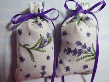 "Ivory 4""X2"" Sachet-'Classic Lavender' Fragrance-Lavender Sprigs-Cindy's Loft-180"