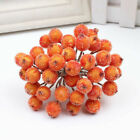 40 Heads Artificial Frosted Holly Berry Flowers Fruit Home Wedding Party Decor