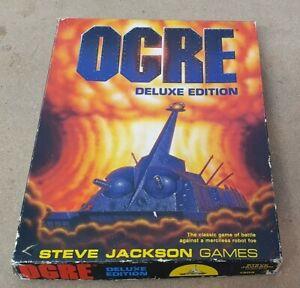 Ogre Deluxe Edition Board Game Steve Jackson Games Complete 1987 1303 Robots