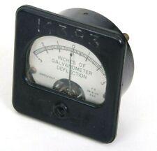 Vintage Weston Inches Of Galvanometer Deflection Meter Gauge 3 0 3