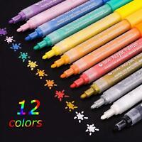 Acrylic Paint Marker Pen Set, 24 colours, Paint Pens for Rocks, Glass, Wood