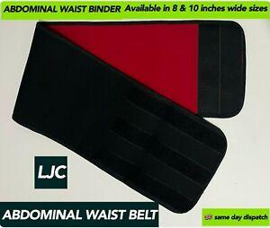 Black Abdominal Binder Hernia Support Back Stomach Compression Belt Neoprene UK