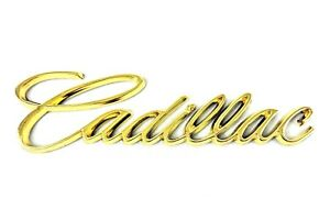 Cadillac Gold Letters Emblem Badge Rear Boot Trunk with Sticker Retro Classic