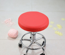 "1Pc 14"" Bar Stool Cover Round Chair Seat Cover Sleeve PU Leather Red Dental"