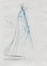SALVADOR DALI (1904-1989) RARE Original Etching Tristan & Iseult 1970 Surrealism