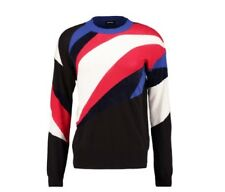 NWT $220 Diesel K-Holy Pullover Multi Color Men's Sweater Made in Italy Size  L