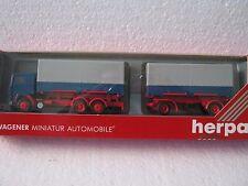 Herpa HO/1:87 839041 Volvo F12 Wechselpritschen Lastzug Neutral (CC/984-9R6/5)