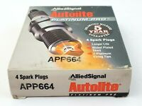 Lot of 4 Autolite APP664 Platinum Pro Allied Signal Spark Plugs