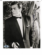 RARE SIgned SEAN CONNERY James Bond 007 Black White 8x10 PHOTO Beckett BAS LOA
